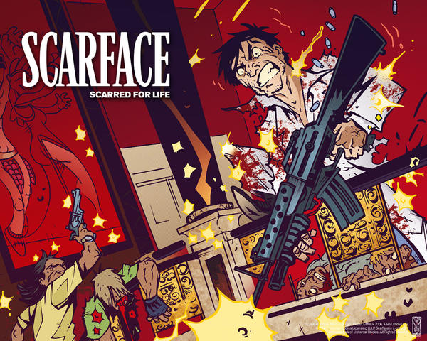 Toon Scarface by Spyder232