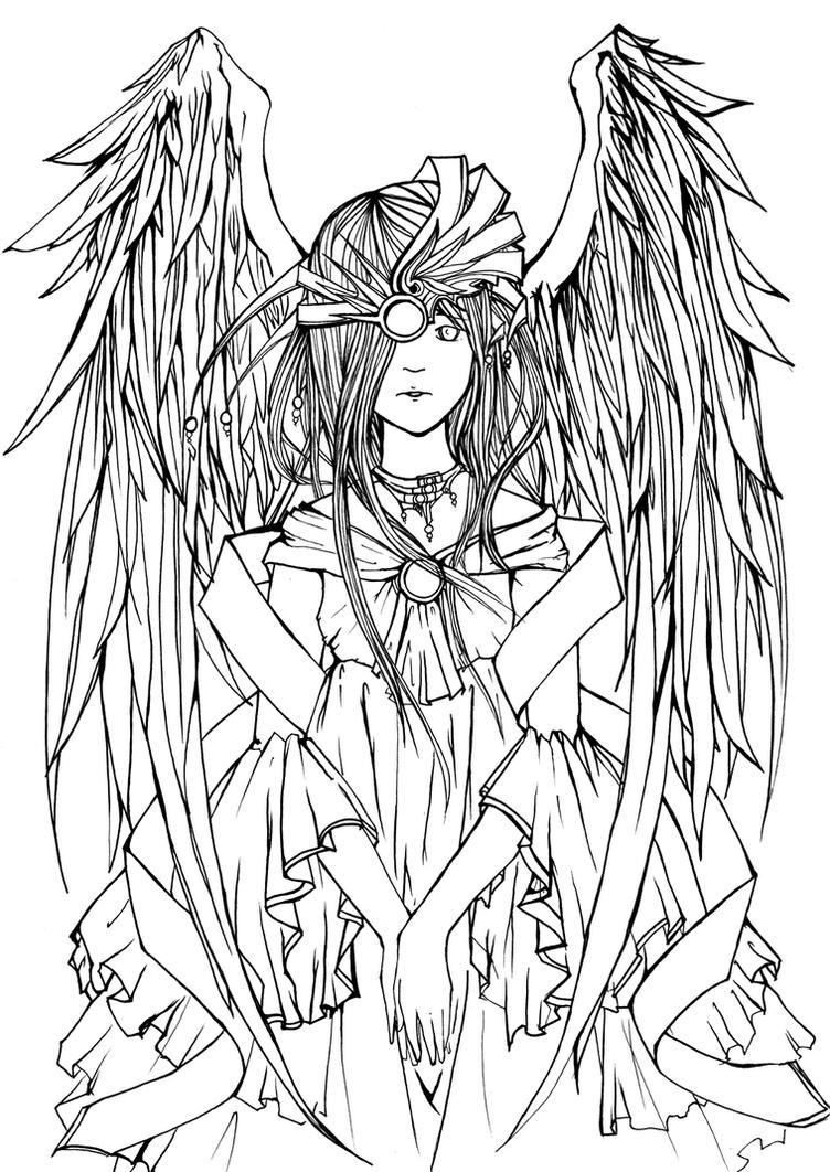 _Empress_leAngel. LineArt+ by infiniteFinality
