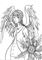LINEART_FFVIII_Rinoa Heartilly by infiniteFinality