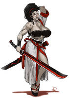 Alexia Fierce-Edge, blademaster by antcow