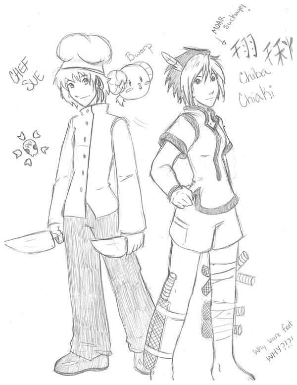 JvC: Sue and Chiba by Silverkestrel