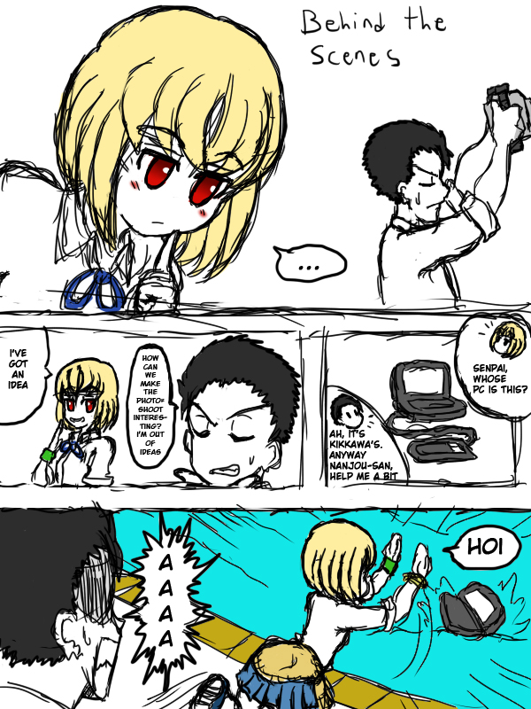 Nanjou Saori - Drawing Underwater Extra Comic 1 by JimLiesman