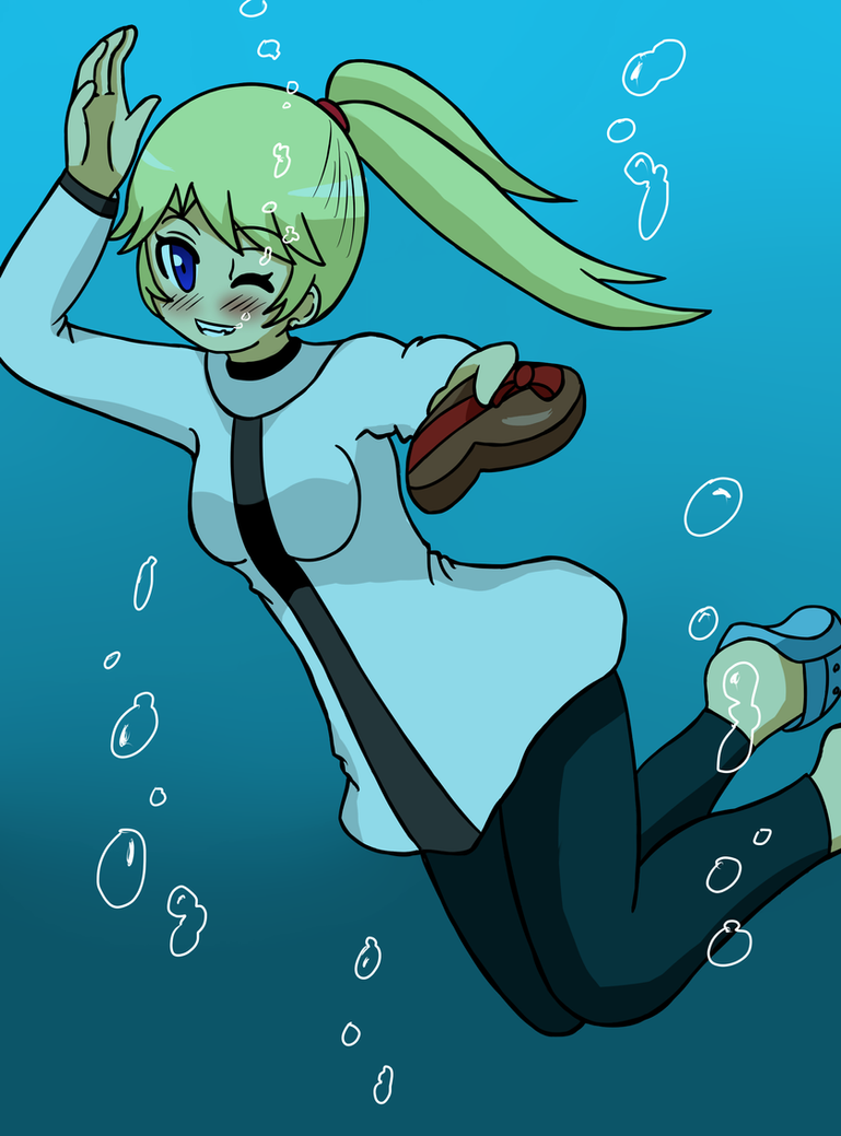 Nagare Atsuko - Underwater 14th February by JimLiesman