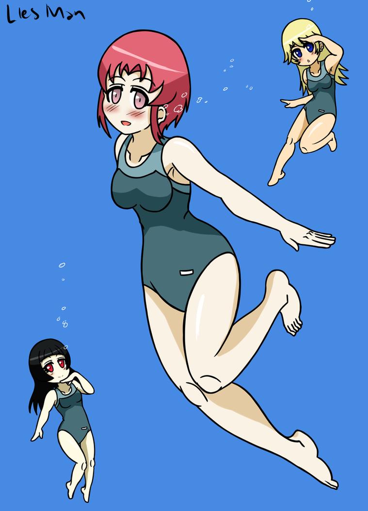 Saotome Chisa - School Swimsuit by JimLiesman