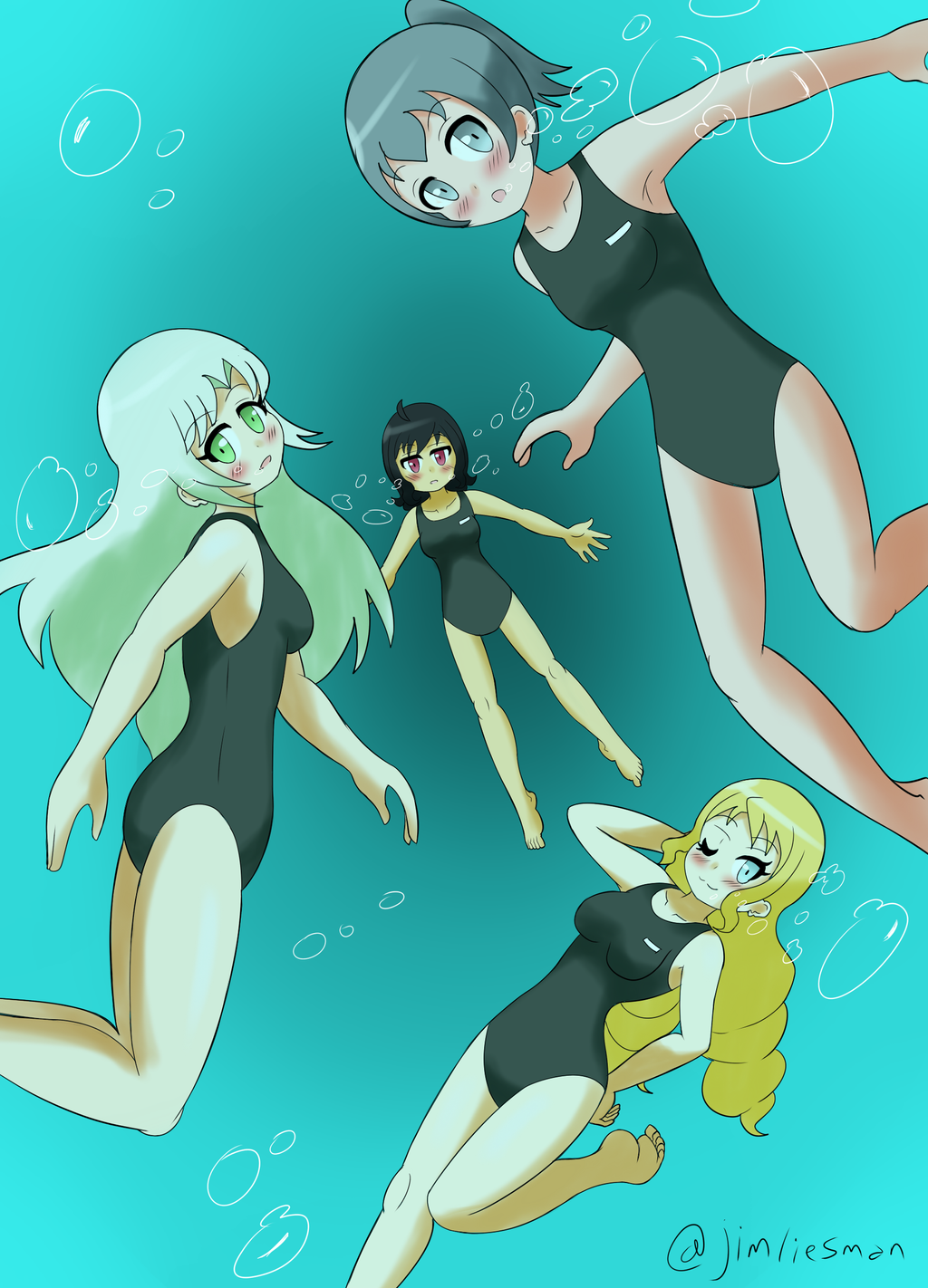 Girls In One Piece Swimsuits By Jimliesman On Deviantart