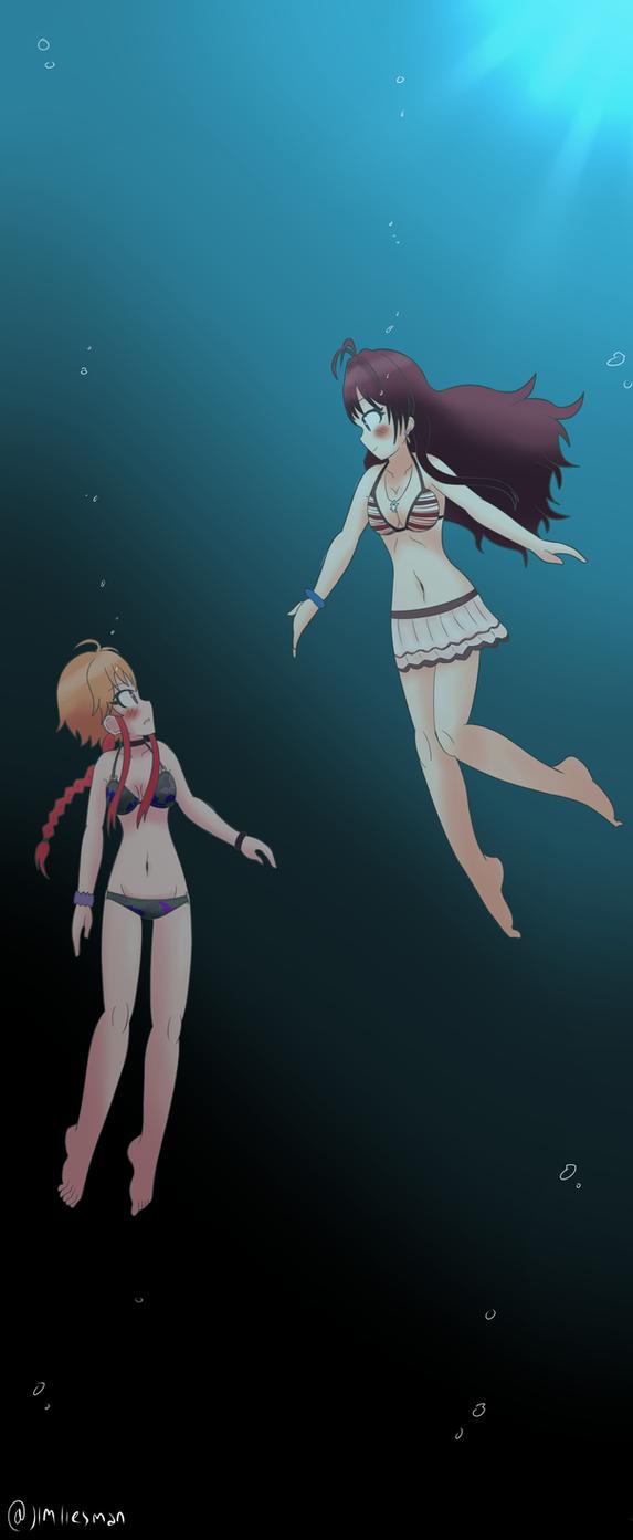 Idolmaster Cinderella Girls - Asuka and Shiki by JimLiesman