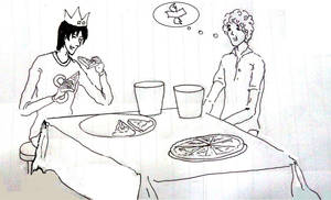 Jughead Having Lunch