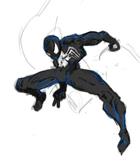 Black Spiderman by Armyghy