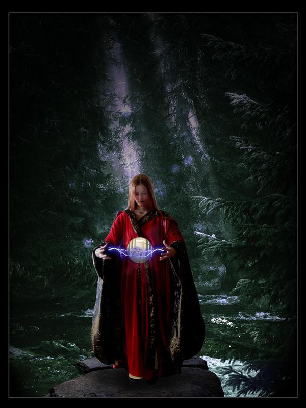 FANTASTİK RESİMLER Magic_in_the_forest_by_SilentrageLeon