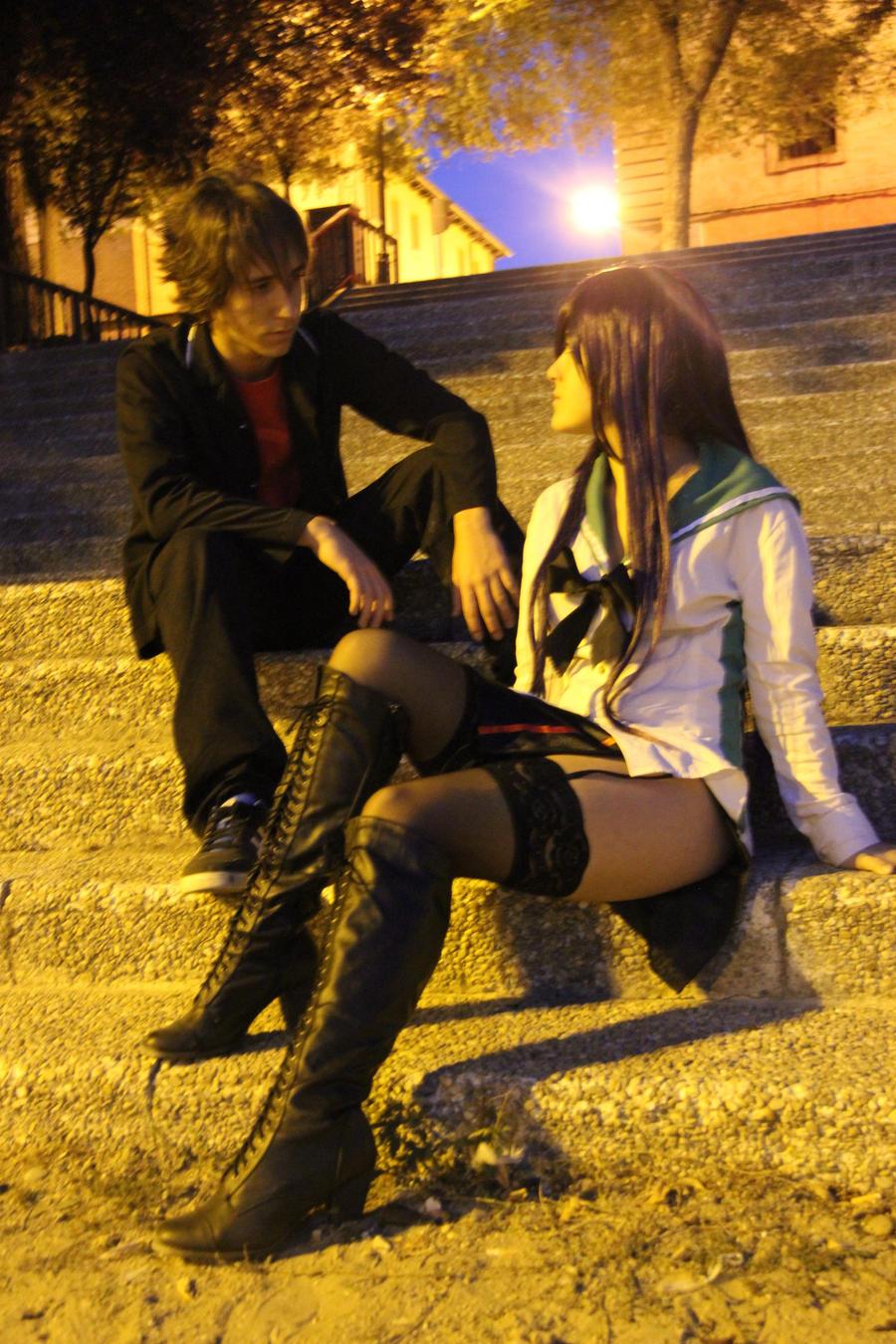 Takashi komuro and Saeko busujima by AstronSama on DeviantArt