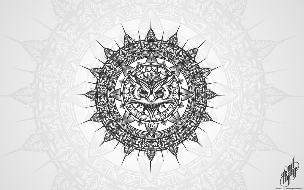 Owl Mandalathingy by N4u2k