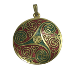 Gold Red And Green Pendant png