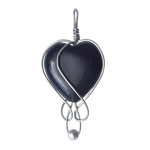 Black heart pendant png