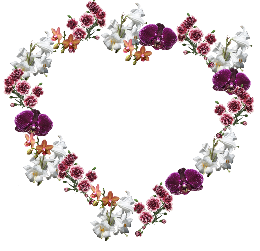 Flower Frame png by Adagem