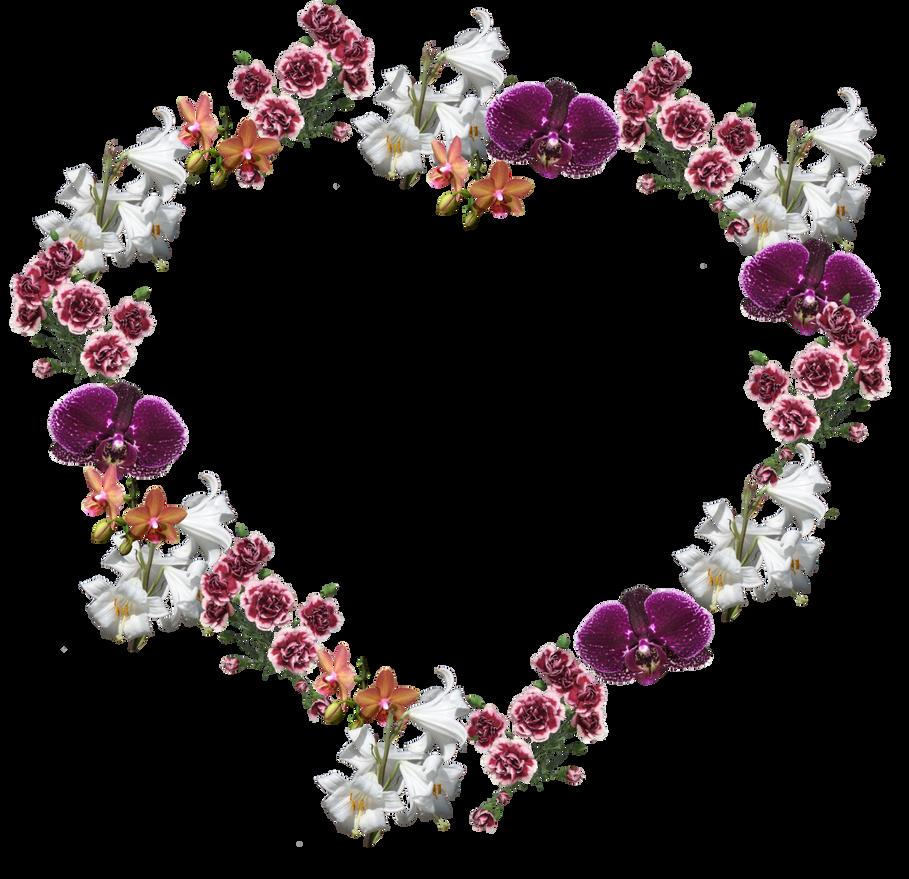 Flower Frame png by Adagem