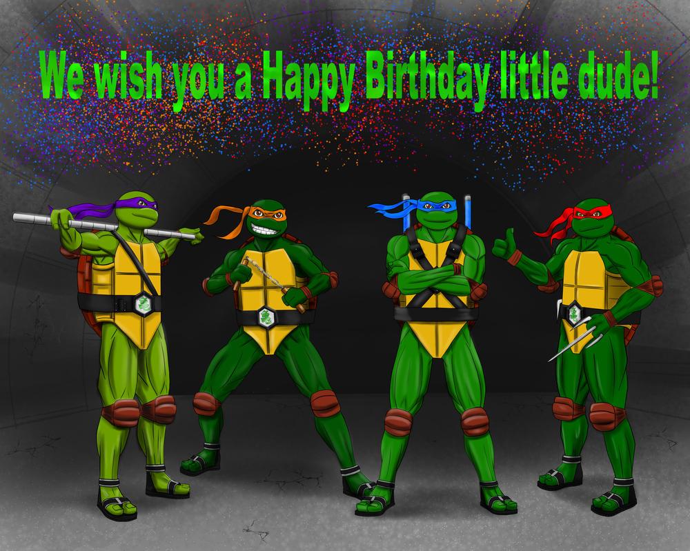 Birthday Card TMNT by KaiHanyo on DeviantArt