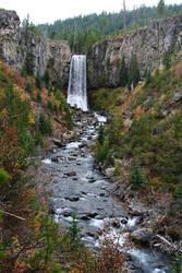 Tumalo Falls by aeronautkit