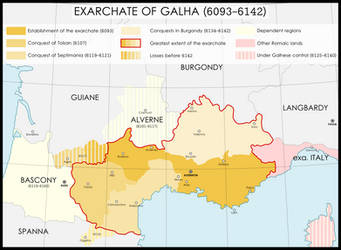 Exarchate of Gaul (585-642) by LSCatilina