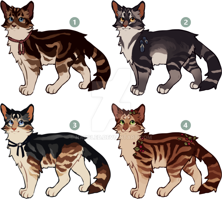 [CLOSED] Cat Adoptables By Nargled On DeviantArt