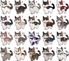 [HOLD] Cat Adoptables by nargled