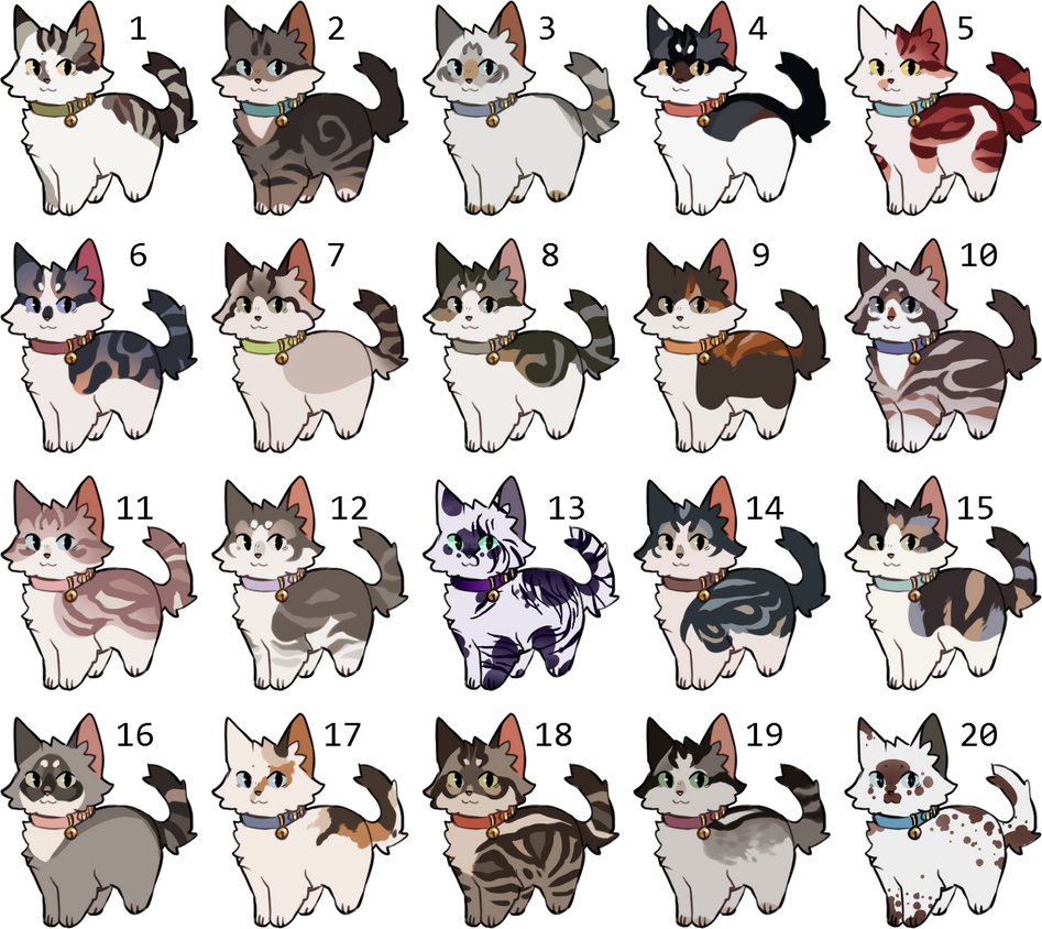 [HOLD] Cat Adoptables by nargled on DeviantArt