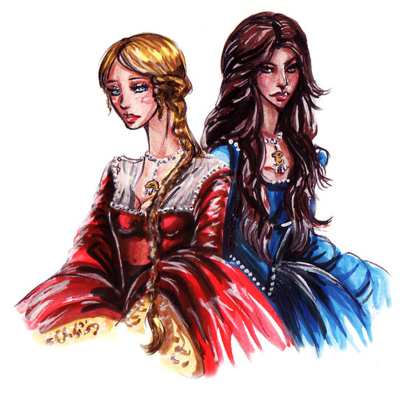 the boleyn sisters by fidisart on deviantart