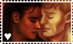 M/K stamp by FidisART
