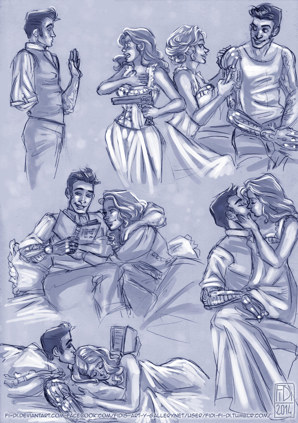Couplesketches: Eilian/Hadley