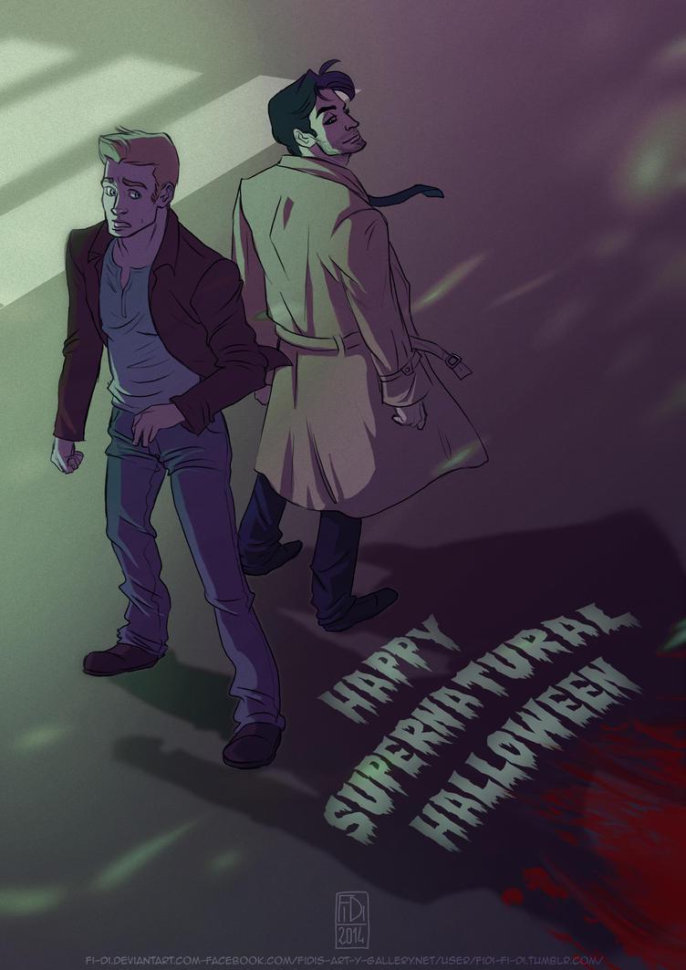 Happy Supernatural Gay Halloween by Fi-Di