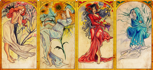 Mucha Girls by FidisART