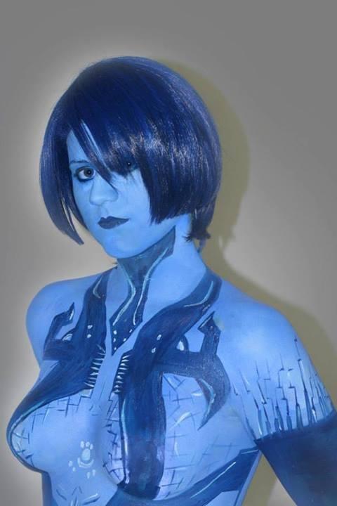 Cortana Halo Body Painting 1 by LoneSurvivor01