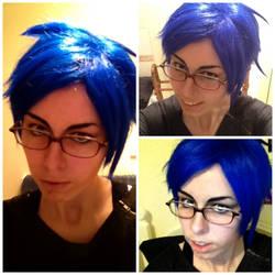 Free!: Rei Ryugazaki Makeup test 1 by LoneSurvivor01