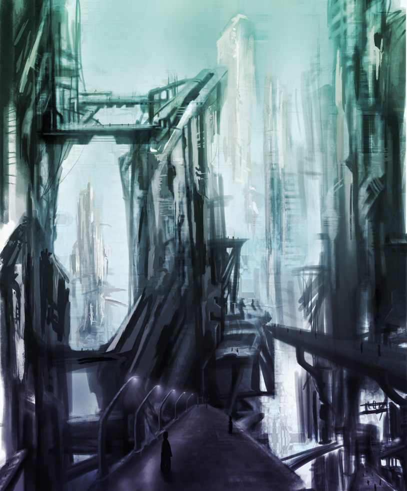 scifi city by psiipilehto