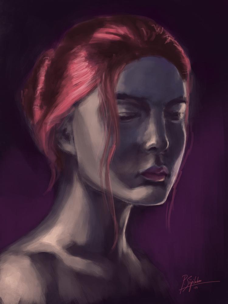 Portrait study5 -speedpaint by psiipilehto