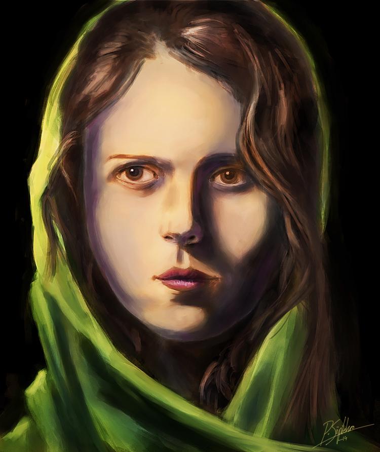 Portrait study6 -speedpaint by psiipilehto