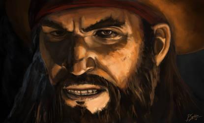 Blackbeard - AC Black Flag fanart by psiipilehto
