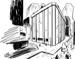 Cityscape by SquidMantis