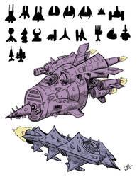 Spaceship Designs by SquidMantis