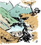 Landscape Sketch by SquidMantis
