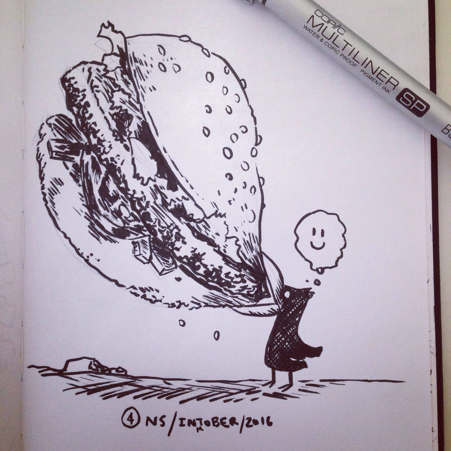 Inktober 2016 #4: HUNGRY by SquidMantis