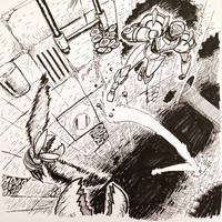 Inktober #10: JUMP by SquidMantis