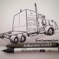 Inktober #11: TRANSPORT by SquidMantis