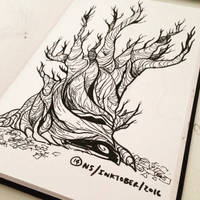 Inktober 2016 #14: TREE by SquidMantis