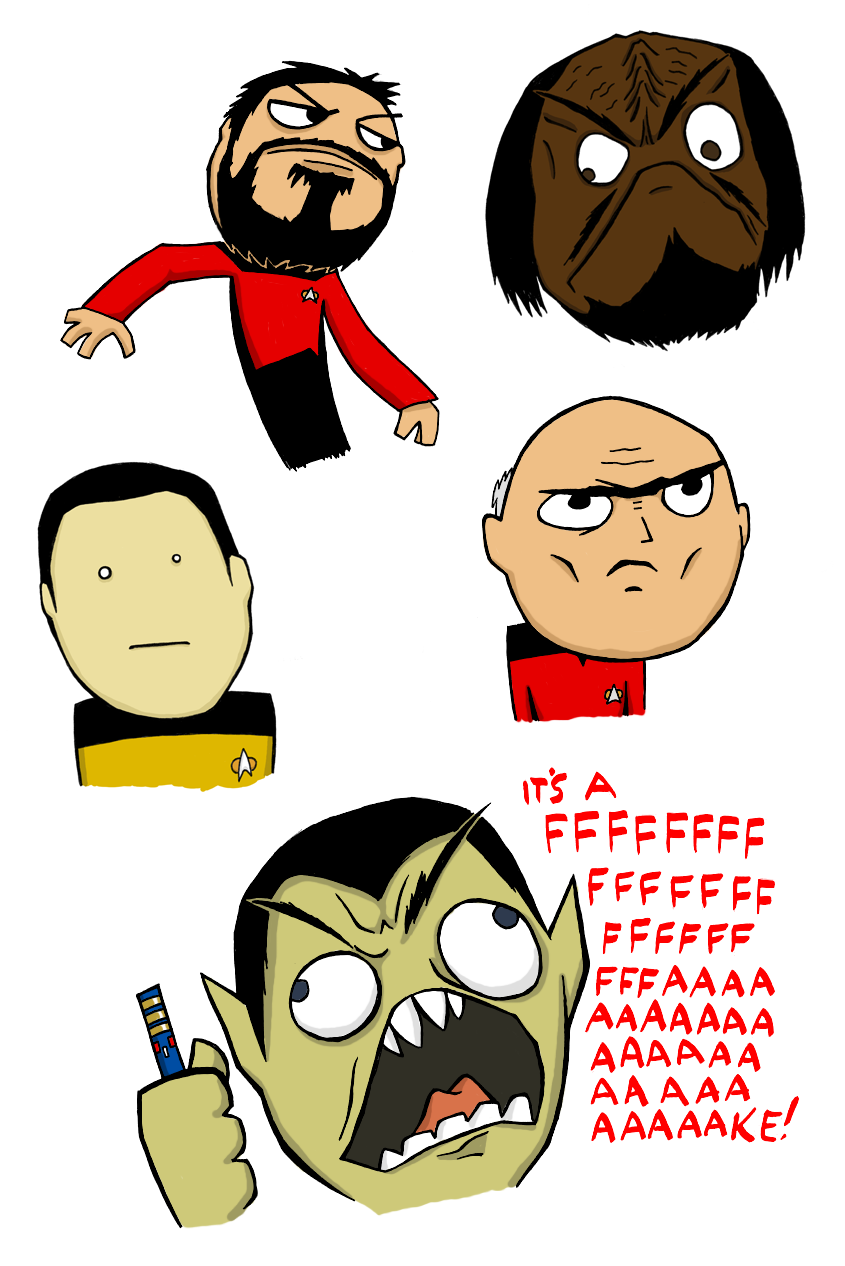 Star Trek Rage Faces by jagged-snail