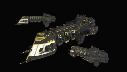 Black Templars Light Cruiser by kemalkorkmaz