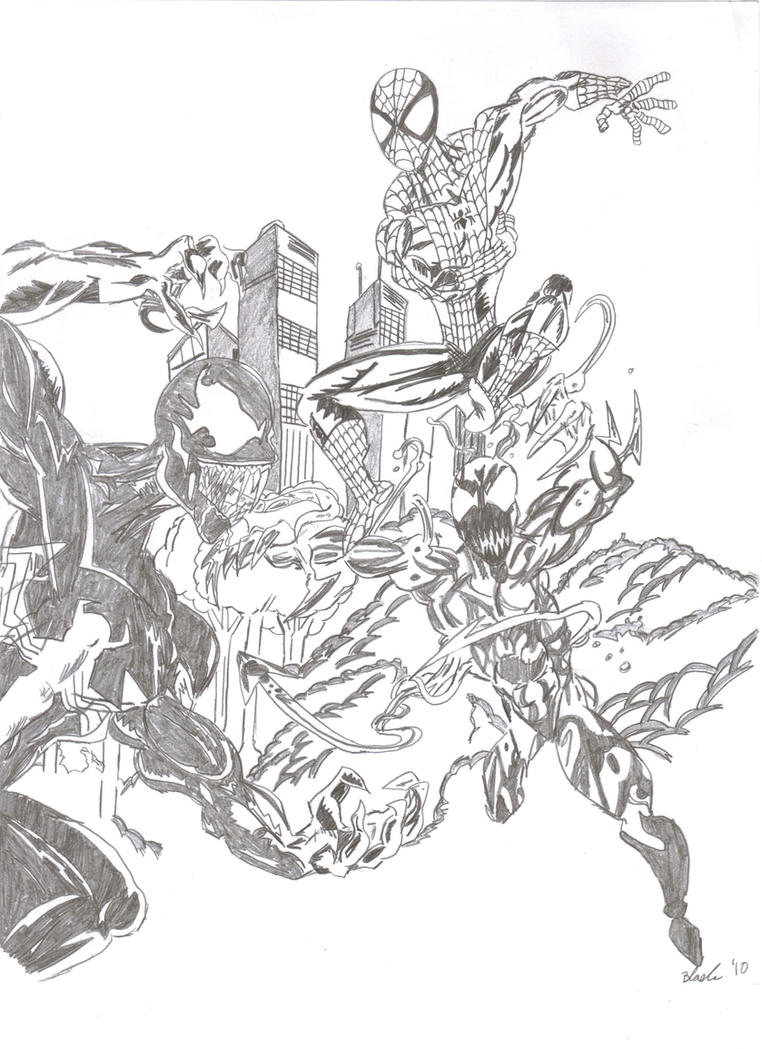 carnage spider man coloring pages - photo#3