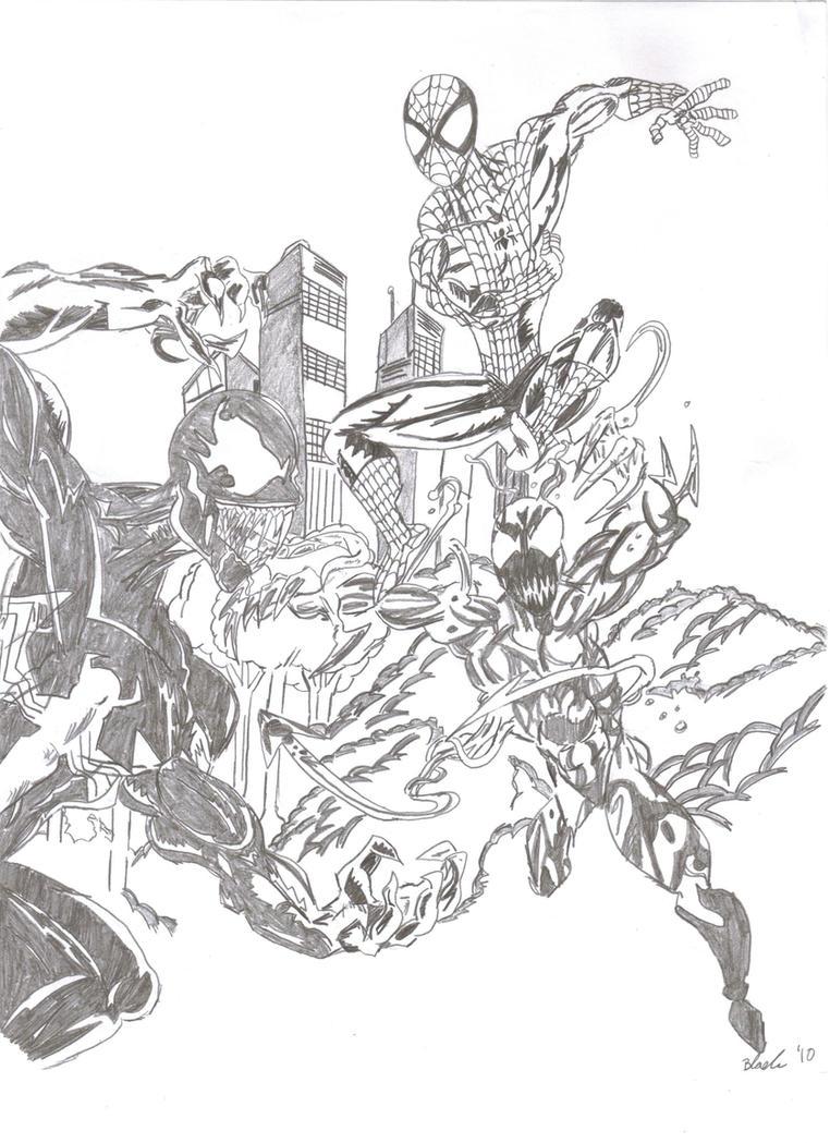 Spiderman vs carnage drawings - photo#44