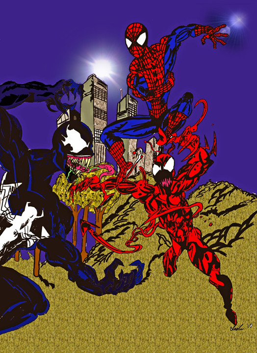 carnage spider man coloring pages - photo#49