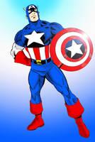 Captain America COLOR by txboi001