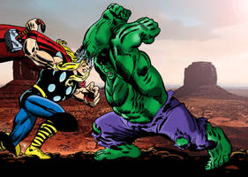 Thor Vs. The Hulk by txboi001